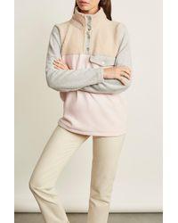 DONNI. Tri-mini Sherpa Pullover - Multicolor