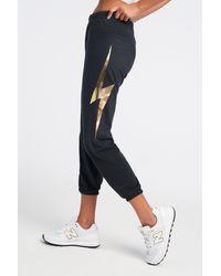 Aviator Nation Bolt Sweatpants Charcoal/metallic Gold - Multicolor