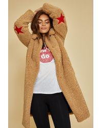 Zoe Karssen Faux Fur Teddy Coat - Multicolor