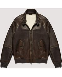 Baracuta G9 Authentic Fit Shearling - Brown