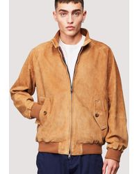 Baracuta G9 Suede Tobacco - Brown