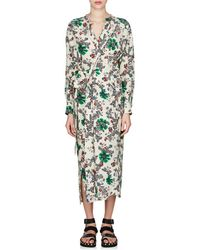 Isabel Marant - Calypso Silk Crêpe De Chine Wrap Dress - Lyst