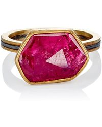 Judy Geib - Ruby Slice & Pavé Ring Size 6.25 - Lyst