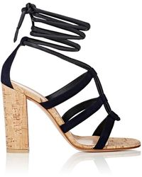 Gianvito Rossi - Cayman Leather & Suede Ankle - Lyst