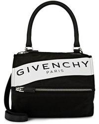 Givenchy - Small Pandora Logo Shoulder Bag - - Lyst