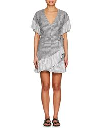 Suboo - Striped Voile Wrap Dress - Lyst