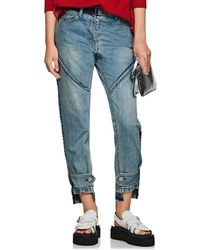 Sacai - Belted Relaxed Jeans - Lyst