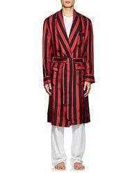 Barneys New York - Striped Silk Robe - Lyst