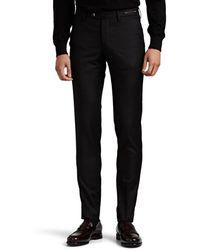 PT01 Virgin Wool Super-slim Trousers - Black