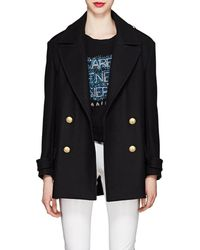 Balmain - Wool-cashmere Felt Double-breasted Peacoat - Lyst