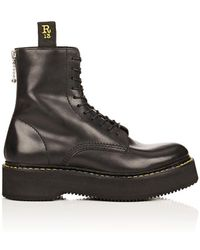 R13 | Single Stacked Leather Boots | Lyst