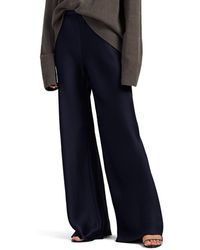 The Row Gala Silk Satin Wide-leg Pants