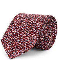 Lanvin - Abstract-pattern Silk Necktie - Lyst