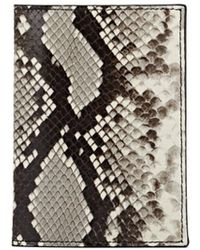 Barneys New York Stamped-leather Passport Case - Multicolor
