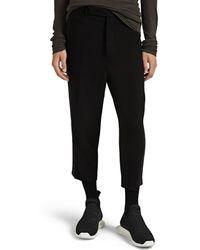 Rick Owens Astaire Wool-blend Crepe Pants - Black