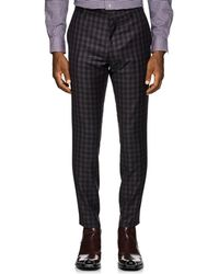 Paul Smith - Plaid Wool Flannel Slim Trousers - Lyst