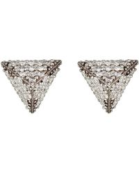 Ileana Makri - White Diamond Pyramid Studs - Lyst