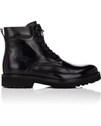 Barneys New York - Lug-sole Leather Boots - Lyst