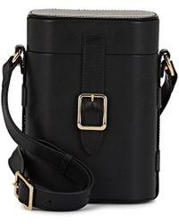 OFFICINA DEL POGGIO Mini Safari Leather Crossbody Bag - Black