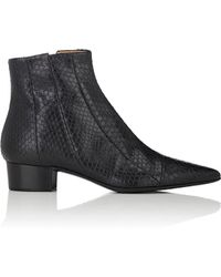 The Row - Ambra Elaphe Ankle Boots - Lyst