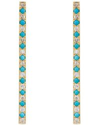 Jennifer Meyer - Stick Stud Earrings - Lyst