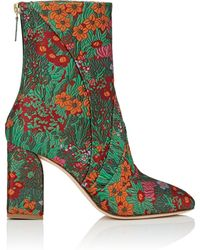 Zac Posen - Ines Floral Brocade Ankle Boots - Lyst