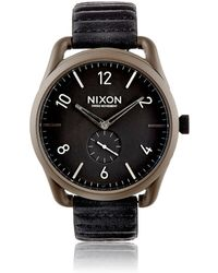 Nixon - C45 Leather Watch - Lyst