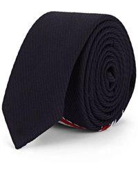 Thom Browne Striped Wool-blend Necktie - Blue