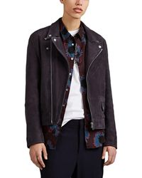 PS by Paul Smith - Suede Moto Jacket - Lyst