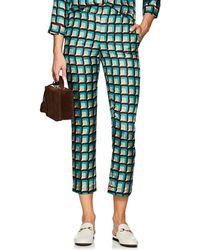 Barneys New York - Geometric Silk Pyjama Trousers Size 40 It - Lyst