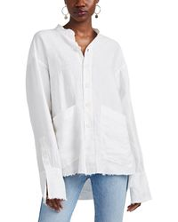 Greg Lauren - Slub Cotton Button-front Blouse - Lyst