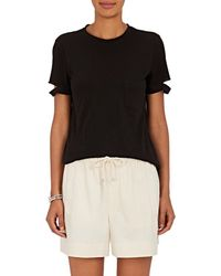 2668827fbbceba Hot Helmut Lang - Slashed-sleeve Cotton Jersey T-shirt - Lyst