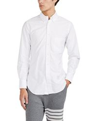 Thom Browne - Tricolor-cuff Cotton Oxford Cloth Button-down Shirt - Lyst