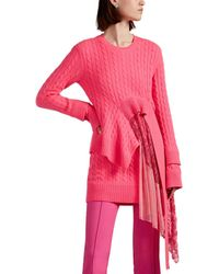 Sies Marjan - Trine Lace-inset Wool-cashmere Sweater - Lyst