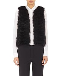 J. Mendel Sequined-embellished Fur Vest - Black