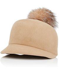 Lola Hats - Circa Pom Fur Hat - Lyst