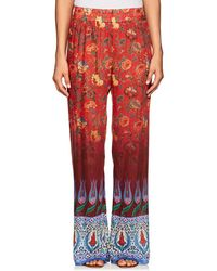 Warm - Printed Palazzo Trousers - Lyst