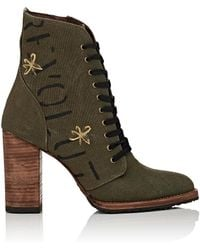 Esquivel - Dana Canvas Ankle Boots - Lyst