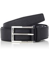 Prada - Saffiano Leather Belt - Lyst