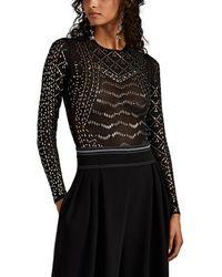 Koche Embellished Mesh Bodysuit - Black