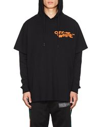 Off-White c/o Virgil Abloh Logo-print Layered Hoodie - Black
