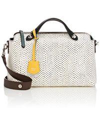 Fendi By The Way Small Leather Shoulder Bag in Black - Lyst 785b8eadad266
