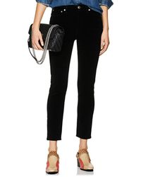RE/DONE - Velvet High-rise Ankle Crop Trousers - Lyst