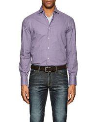 Brunello Cucinelli   Checked Cotton Poplin Shirt   Lyst