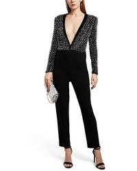 Givenchy Beaded Silk-wool Jumpsuit - Black