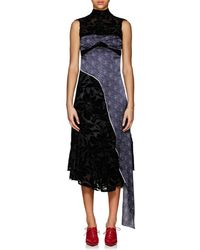 Marine Serre - Floral Devoré & Moon-print Satin Dress - Lyst