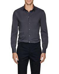 Giorgio Armani - Cotton-blend Poplin Shirt - Lyst