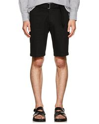 Officine Generale - Julian Cotton Twill Shorts - Lyst