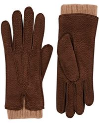 Barneys New York - Extended-cuff Leather Gloves - Lyst