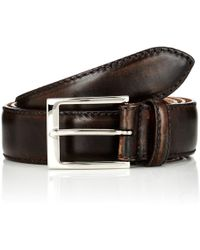 Harris Smooth Leather Belt - Brown
